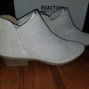 KENNETH COLE REACTION Perforated Suede Booties